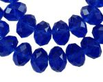 Glass Rondelle 8x6mm Pearl Lustre Blue (18)